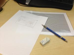 graph paper mockups